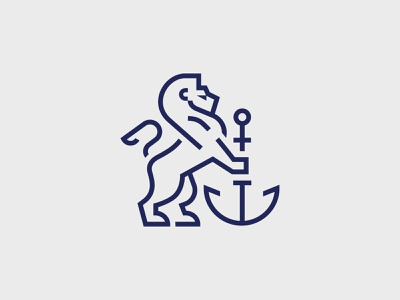 alpha marine standing lion vector greek illustration premium anchor sea marine lion