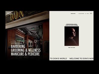 Don Barber & Groom greece parallax effect barbershop barber web design kommigraphics