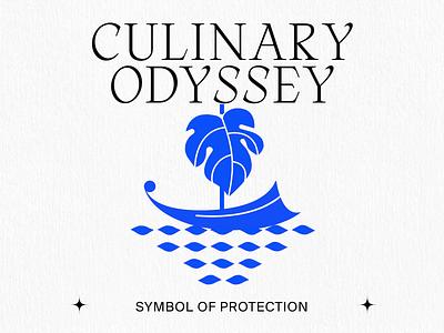 Symbol of protection kommigraphics motion design animation greek mythology greece boat greek boat sailing sea blue culinary odyssey fig leaf