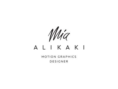 Mia Alikaki logo greece athens design logo logo design branding kommigraphics