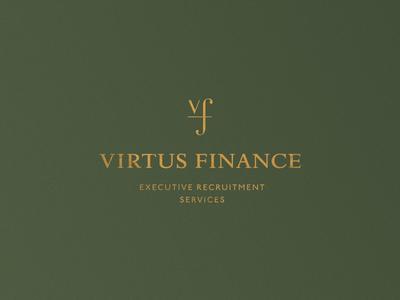 Virtus Finance logo greece athens finances design logo logo design kommigraphics