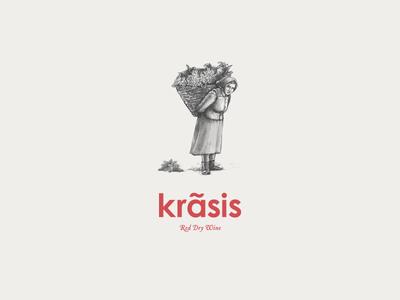 Krasis illustration packaging greece athens illustration label design kommigraphics