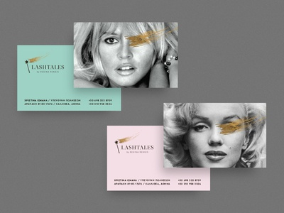 Lashtales cards business card brand id greece athens branding design kommigraphics