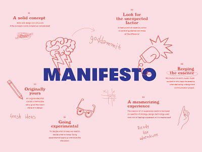 Manifesto typography illustration manifesto studio design kommigraphics