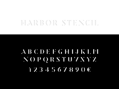 Harbor Stencil font typeface studio design kommigraphics