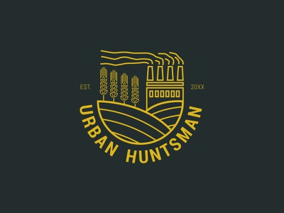 Urban Huntsman concept logo branding beer