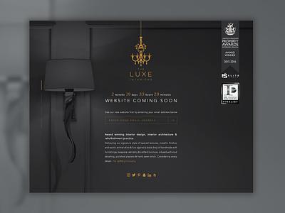The Luxe Interiors interiors landing web design design web