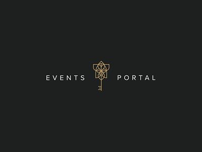 Events Portal design logo branding