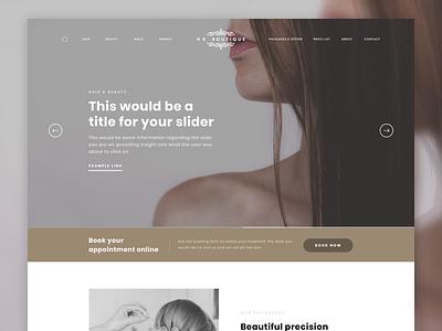 HB Boutique salon hair web design ui web website