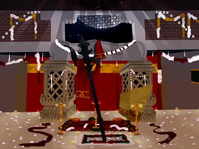 Devi Temple illustration