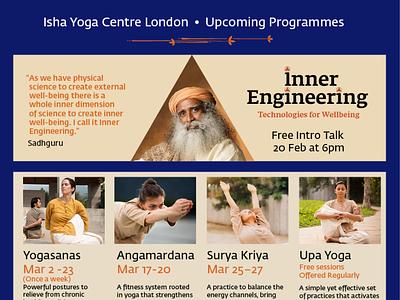 Upcoming Programmes Flyer layout design