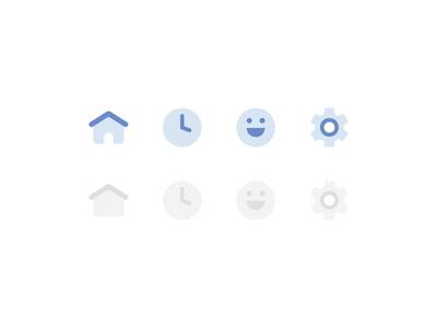 Navigation Icon Set emoji icon set minimal illustration ui settings icon profile icon avatar clock icon home icon icon