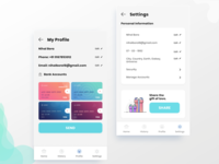 Inner Pages of the Payment App concept