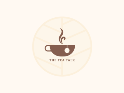 The Tea Talk logo design chat logo talk logo tea logo chat design chai tea logo