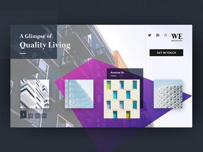 Quality Living invite home ux dark ui design ux design minimal dark ui icon ui
