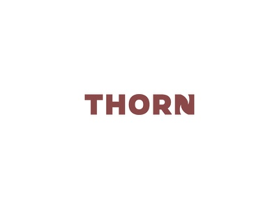 Thorn Logo minimal logo design logo typography rose thorn