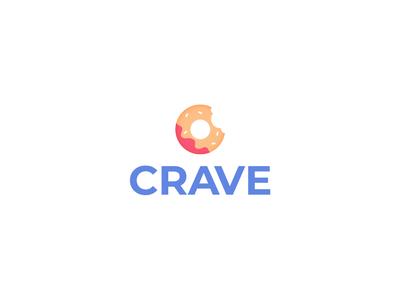 Crave logo logo design icon brand identity sweet food logo donut branding food logo crave