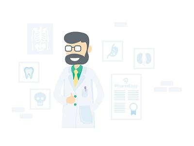 Doctor minimal app ui design design vector medicine app medicine flat design illustration medical doctor