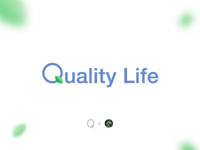Quality Life: Logo Design flat brand identity logo design typography branding minimal icon logo