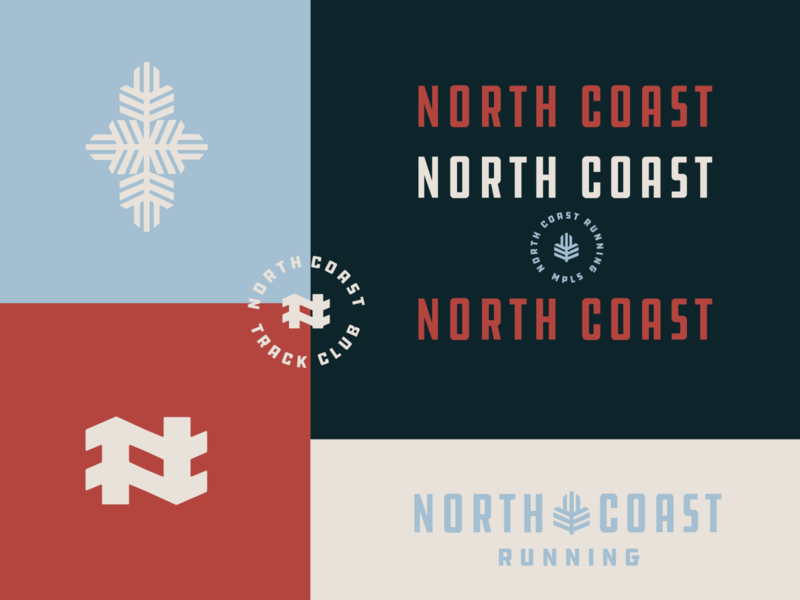 North Coast Running Identity midwest north minnesota minneapolis minnesota mn minneapolis monogram design monogram branding