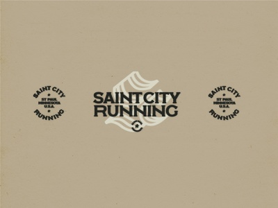 Saint City Running Logos 01 logo minnesota monogram typography minneapolis branding