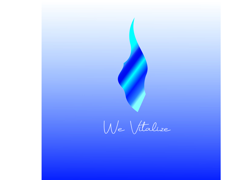 We vitalize illustration logo vector branding water simple natural vitalize helth