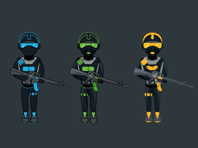 S.W.A.T. Boys icon ux ui game cod callofduty counterstrike cs gaming esports mascot awesome google nice m4 soliders police swat illustration