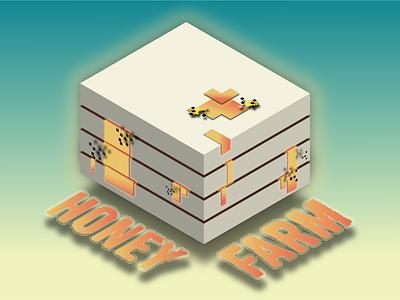 Honey Farm design branding logo vector illustration