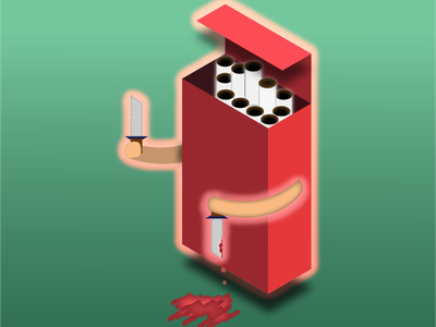 Smoking Kills ! kills smoking vector funny illustration