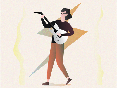 My Guitarist Friend vector funny guitarist hamza texture guitar animation design illustration