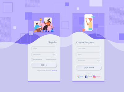 Daily UI #001 - Sign Up design daily challange app ui ui design 001 daily ui 001 daily ui