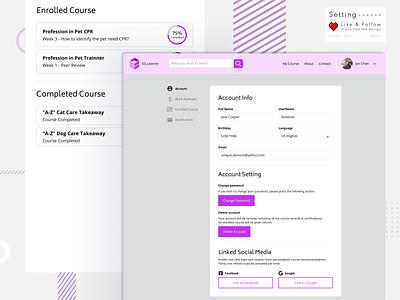 Daily UI :: 007 :: Setting branding graphic design website ui web setting dailyui