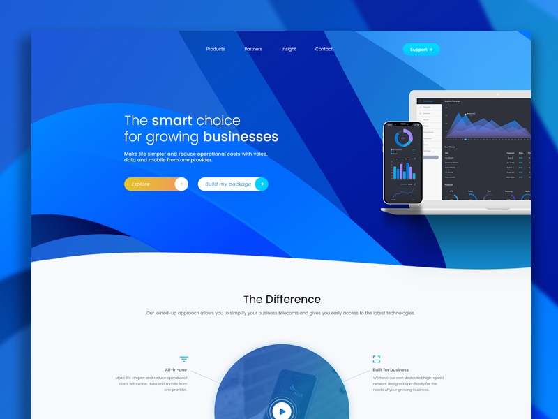 Homepage Redesign for long-term client user interface ui design the special something interaction design clean design ux ui ixd hue gradient blue gradients