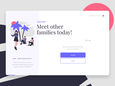 Travel Onboarding Concept concept ui travel app onboarding screen social network create account testimonial illustration purple onboard traveling signup travel onboarding
