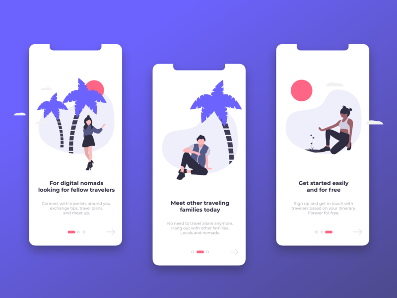 Travel Concept Onboarding Rebound // Mobile First user interface ux design ui design onboarding illustration splash screen illustration clean design travel user interface design onboarding screens mobile app design mobile first ux ui app design onboarding