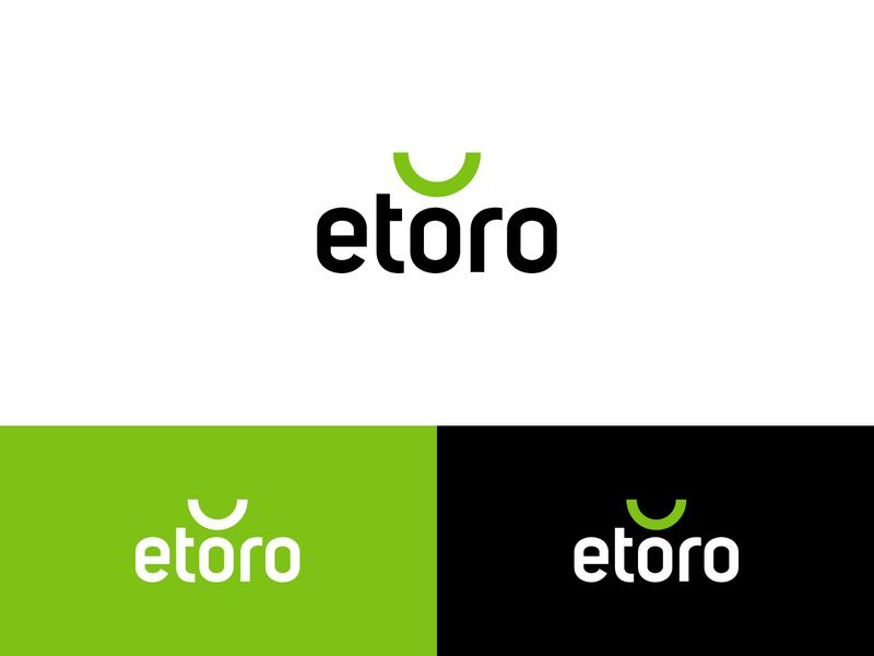 eToro™   Logo Redesign Idea green debut redesign logo exchange crypto bitcoin trading forex etoro