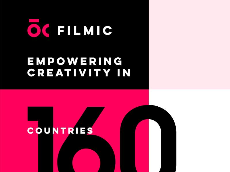 FILMIC PRO - LOGO REDESIGN cinema video app modern redesign brand logo filmic