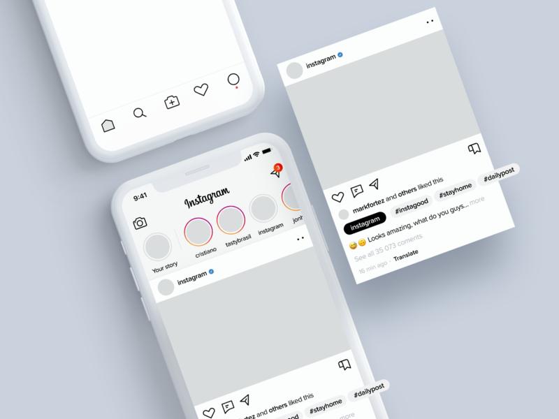 Instagram light redesign facebook redesign design ios iphone x app ux ui instagram post instagram