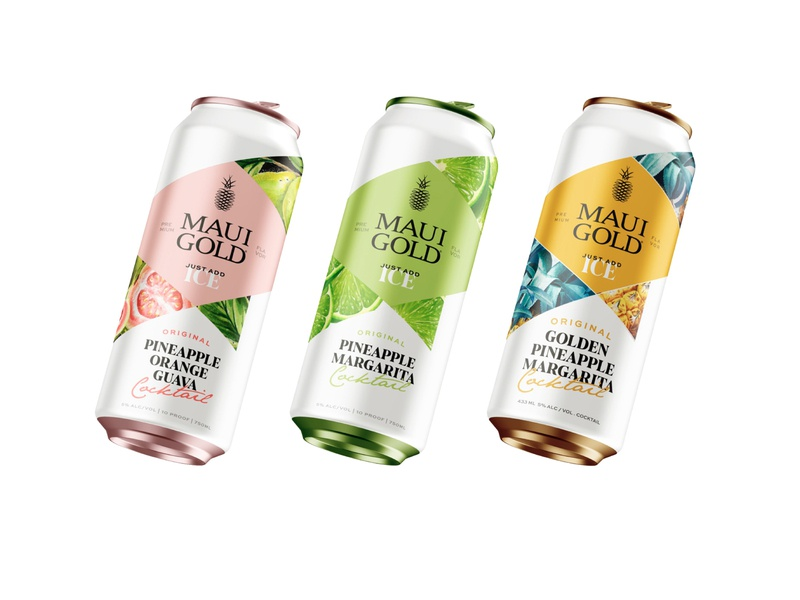 Can Design beverage cocktail ice natural design can