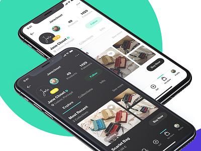 Dark or White? ecommerce app ios iphone x app ux ui design