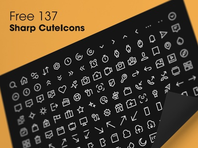 Free 137 - CuteIcons Sharp Edition Set icons design free download pack set iconset icon icons