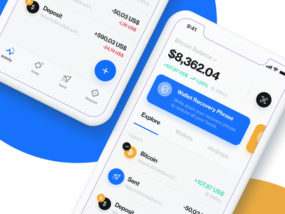Blockchain App - Redesign blockchain cryptocurrency crypto wallet brand ios iphone x app ux ui