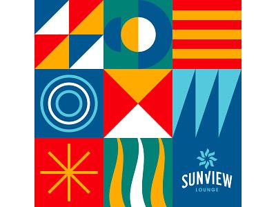 Sunview vector illustration redesign logo design