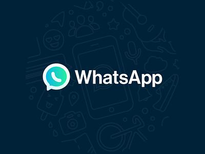 WhatsApp Branding Redesign facebook messenger chat whatsapp ios iphone x brand app redesign logo
