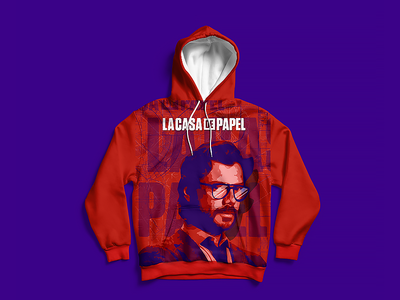La Casa de Papel illustration merchandise merch el professor la casa de papel
