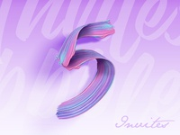 5 Dribbble Invites