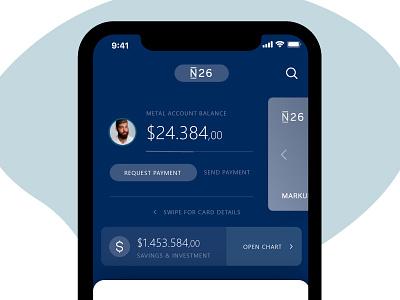 N26 - Updated my own design haha 2019 ux design payment moeny bank card ui app bank n26