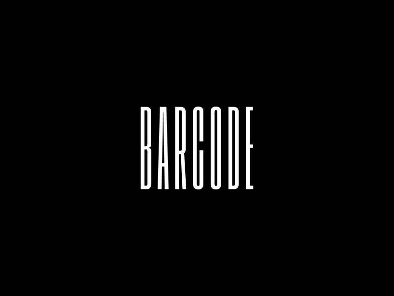 Barcode Logo Design typography branding illustration brand logo design