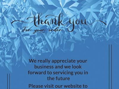 THANK YOU CARD type graphic design art vector flat web icon logo illustration design