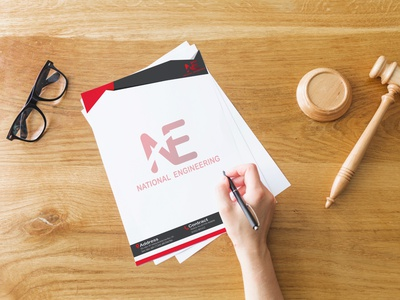 letterhead design letterhead photoshop mockup illustration design